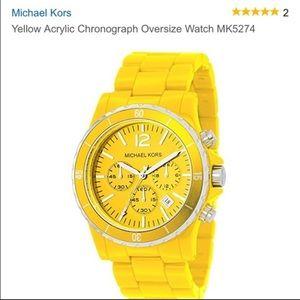 Yellow Michael Kors Acrylic watch
